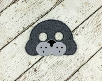 Seal Mask - Felt Mask - Party Favor - Dress Up - Pretend Play - Halloween - Seal Costume