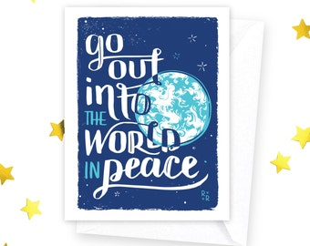 Go Out into the World in Peace • set of 8 cards