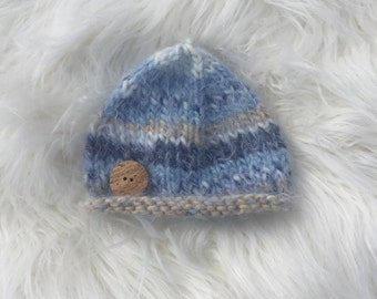 Knit Baby Beanie Hat // Baby Hand Knitted Winter Hat