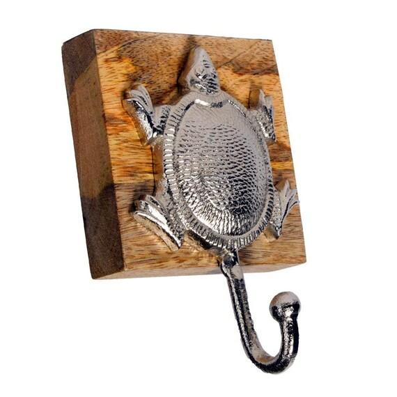 Turtle hooks, Tortoise hooks , wall hooks, keychain holder, jewelry holder, Turtle decor, nautical decor, beach decor, necklace holder