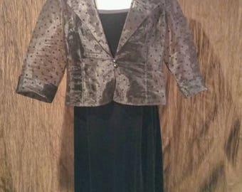 R & M Richards vintage black formal dress, size 18, free shipping
