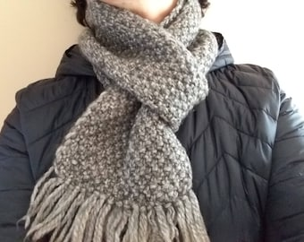 Classic wool, hand made scarf.