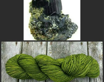 Hand Dyed Yarn, Superwash Merino Worsted Weight Tonal Yarn Perfect for Hats, Cowls, Scarves and Sweaters - Hornblende