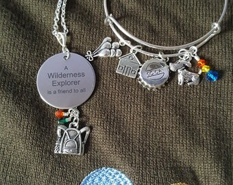 Up Inspired Bracelet, Wilderness Explorer Necklace