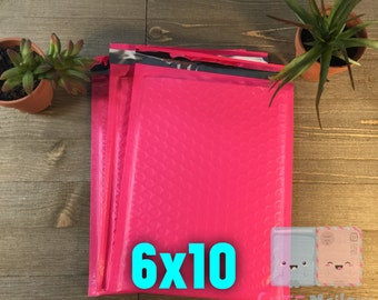 20-30 pcs 6x10 Padded Mailers Pink