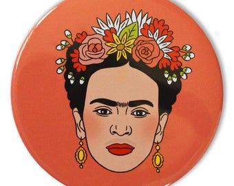 Frida Pocket Mirror, Frida Kahlo, Stocking Stuffer, Party Favor, fiesta party stuffer, bridal party, fiesta bag stuffers