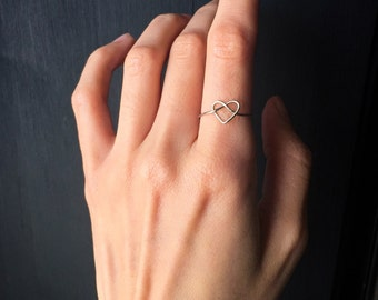 Simple Infinity Heart Ring