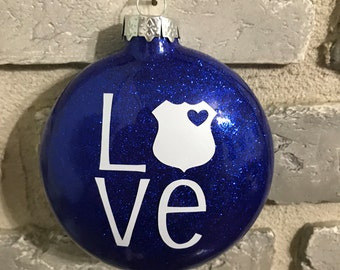 Police Love Ornament