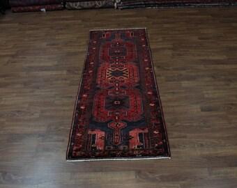 4X10 Fine Pattern Hallway Rare Hamedan Persian Rug Oriental Area Carpet 3'7X9'8
