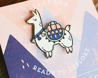 Alpaca Adventures Hard Enamel Lapel Pin Flair