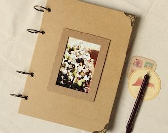 Photo Album, Kraft Photo Album, black kraft Photo Album, Ring Binder Photo Album, blank scrapbook Album, Wedding Album, Baby photo Album