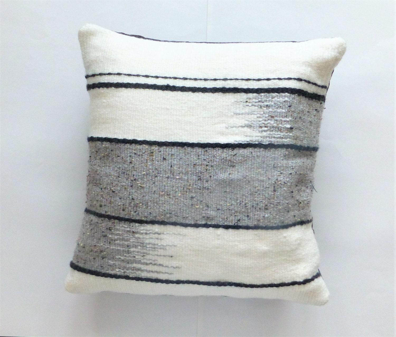 Woven Pillows Handmade Throw Pillow Couch Pillow