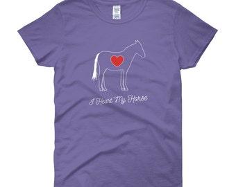 I Heart My Horse - Women's short sleeve t-shirt, SMALL-XL