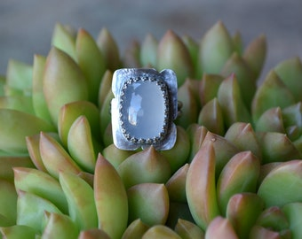 Aqua Marine Crown Ring