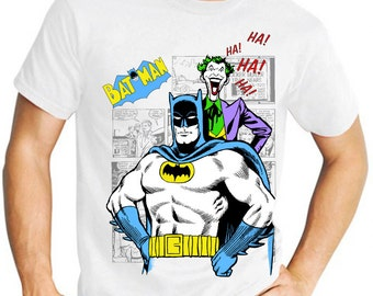 Batman: Classic Batman & Joker Comic Book Men's T Shirt