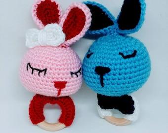Sweet Bunny Rattle