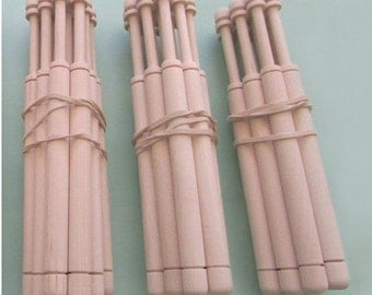 bobbins for lacemaking 36 pcs. wooden round shape