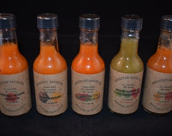 1.7 Oz ~ Twin to Three Pack ~ Choose Your Flavor ~ All Natural Hot Sauce