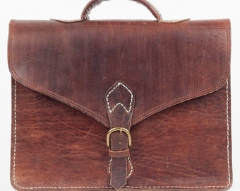 Briefcase, laptop bag, leather bag, teacher bag UNI, laptop bag, vintage