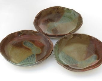 Set of 3, Condiment Bowls, Sauce Dish, Dipping Bowl, Small ceramic bowls, in stock – ready to ship