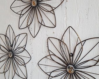 Metal Wall Flower wall flower | etsy