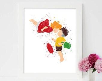 Ponyo, Ponyo Art, Ponyo Poster, Studio Ghibli, Ponyo Print, Watercolor Art, Ponyo on the Cliff, Hayao Miyazaki, Kid Nursery, Love artwork