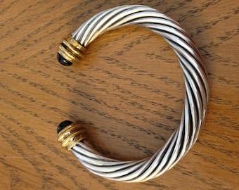 Sterling Onyx Cuff Bracelet