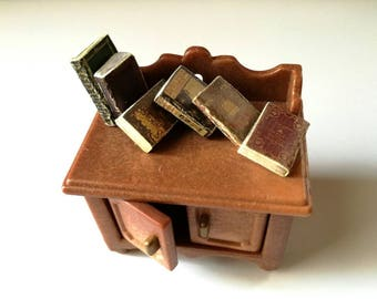 Doll house books, set of 12, twelfth scale, dollhouse library fillers, antiquarian books, victorian dollhouse, mini journals, 1 inch scale