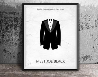 Movie poster print,Meet Joe Black movie poster printable,Brad Pitt,Alternative movie poster,Minimal film art,Instant download,Printables