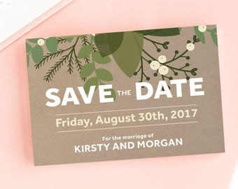 Sweet Mistletoe Save the Date/Wedding Announcement Cards