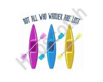 Kayaks - Machine Embroidery Design