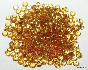 10 pcs Lot 5 mm CITRINE Round FACETED gemstone