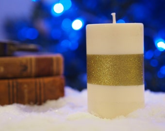 Candle Strip glitter gold