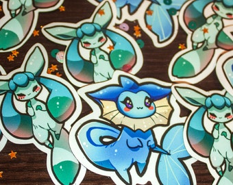 Pokemon Glaceon & Vaporeon magnets #6-7