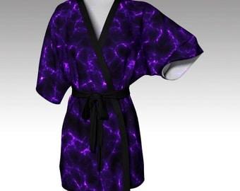 Kimono Robe, Draped Kimono, Dressing Gown, Beach Coverup, Bridesmaid Robe, Lounge Wear, Swimsuit Coverup, Swim Coverup, Women Fashion, Gift