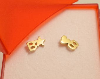 Gold Earring for Barbara or Beatrice or white