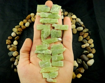 10% Off Gemmy GREEN KYANITE Parcel, (60g, Tanzania) Rare, Natural Crystal Specimens #KYA66