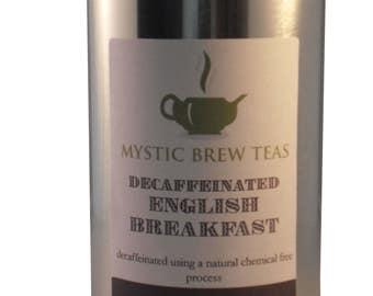 Decaff English Breakfast Tea - Loose Leaf 100g Caddy