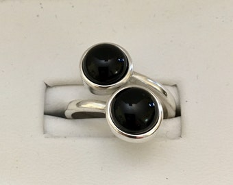 USA-FREE SHIPPING!!  Silver Bypass Ring for 8mm Stones- Cabochon- Special Order