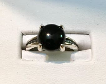 USA-FREE SHIPPING!! Sterling Silver Black Onyx Ring