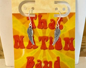 Overstock BOGO: That NATION Band Silver Plated Angel Wing Earrings