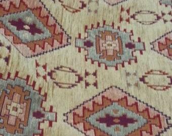 by the Meters,Tulips,Chenille,Jacquard,Ethnic,Tribal,Turkish,Ottoman Chenille Upholstery Fabric, Velvet, Kilim Fabric,Turqois,Burgundry