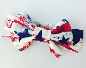 Fourth of July Headband, Red White and Blue Headband