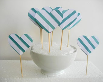 10 Cupcake toppers or dessert.