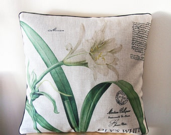 Flower Plant Pillow Cover 2 / Pillow Covers / Throw Pillow / Cushion Covers / Decorative Pillow Covers.