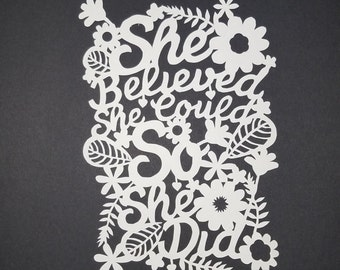 Hand Cut Paper Art