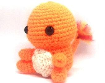 Charmander Amigurumi. Crochet Pokemon. Stuffed toy plushie. *OFFER* Buy 2 or more pokemon and receive a free pokeball