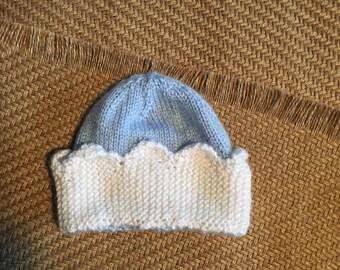 Baby boy crown hat