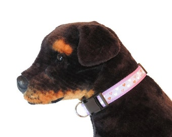 X-Large Lilac Country Hearts Dog Collar