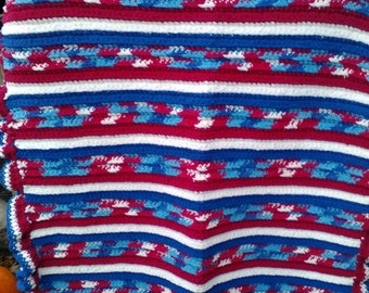 Red, White, & Blue Afghan
